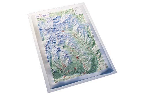 Mapa relieve Les 3 Vallées Savoie France: Escala