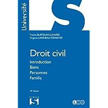 Droit civil. Introduction Biens Personnes Famille - 19e éd.