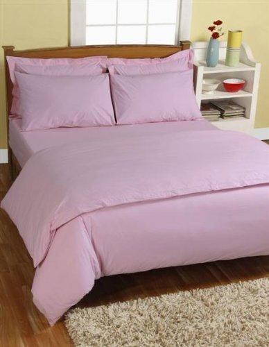Homescapes Kopfkissenbezug 80 x 80 cm rosa Kissenhülle aus 100% reiner ägyptischer Baumwolle Fadendichte 200 (Besten Bettwäsche Aus Ägyptischer Baumwolle)