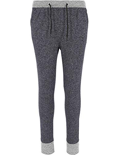 Urban Classics Damen Sporthose Ladies Melange Contrast Sweatpants Blk/Gry