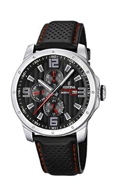 Reloj Festina F16585/8 de cuarzo para hombre con correa de piel, color negro de Festina
