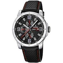Festina Sport Multifunktion F16585/8 - Reloj analógico de cuarzo para hombre, correa de cuero color negro (agujas