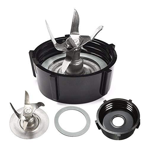 LayOPO Mixer-Ersatzteile, 3-TLG. Mixer-Zubehör-Refresh-Kit Mit Eisbrecher-Blade, Dichtung & Glas-Basiskappe, Kompatibel Mit Oster-Mixern - Oster-glas-mixer-glas