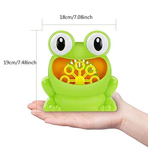 Lin-Tong Automatische Frosch Blase Maschine, Niedliche Premium Durable Baby Kids Bath Bubble Making Spielzeug Batteriebetrieb (Nicht Enthalten) - Maschinen Gumball