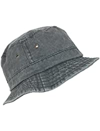 Dorfman Pacific Black Cotton Stone Washed Summer Bucket Hat e560b5c7085e