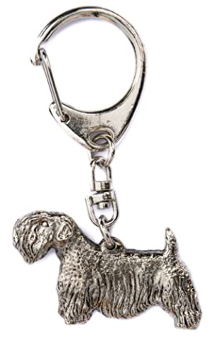 Sealyham Terrier Made in UK, Collection Porte-clés Artistique Style Chien