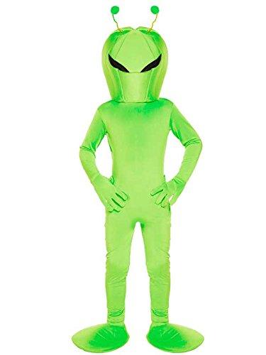 Kinder UFO grün Alien Kinder Kind Kostüm Kostüm, Grün Small