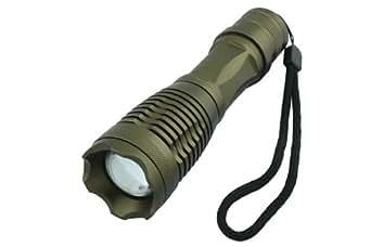 Lampe torche LED CREE 12W 1800 Lumen avec Zoom XM-L T6 gris SLM-0116