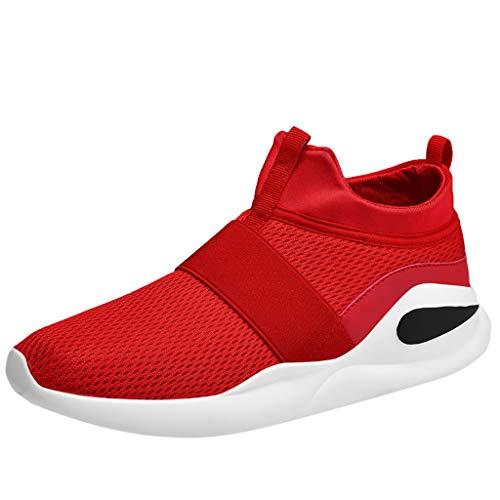 Makefortune-Sandalen Kausale leichte Slip-On-Sneaker für Herren FeiBeauty, Multi-Sport-Straßenlaufschuhe Mode Runde Kappe Rutschfeste Mesh Atmungsaktive Basketballschuhe