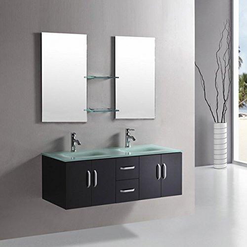 Meuble salle de bain avec vasque marron le classement for Mobili bagno amazon