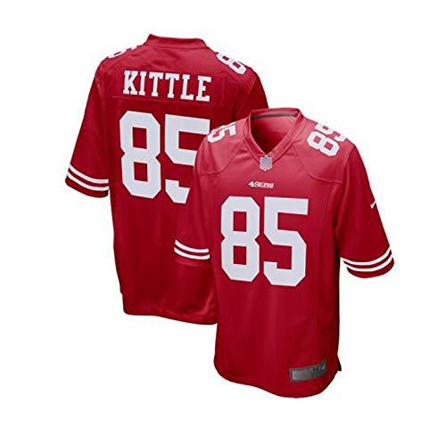 Rugby Jersey, NFL San Francisco 49ers 85# KITTLE Legend Embroidered American Jersey Sweatshirt M-XXXL...