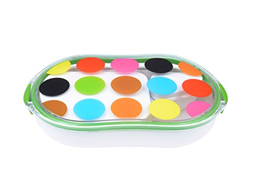 French Bull - Divided Lunch Container - Pack and Snack - Bento Lunch Box - Multidot