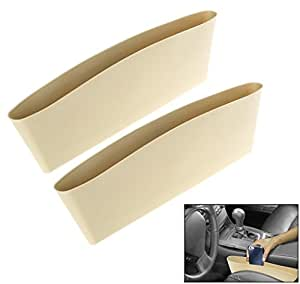 Jaz O Ride Car Seat Catcher Car Organizer Catch Caddy (set of 2, Beige colour) And Key ring for Fiat Linea