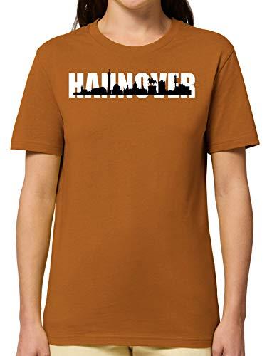 Bio T-Shirt - Stadt Hannover Skyline Waterloosäule - Tolles Geschenk Für Hannover Fans - Heimatstadt - Printed In Germany - 100{576beca96e7a2b080b049ca2717fcee3fa75563b121c2b99e514a1c160ce10f7} Bio-Baumwolle