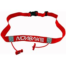 Nonbak portadorsal RACE BELT running triatlon trail running competiciones Black, Neon Green,Orange, Pink, Red (RED/ROJO)