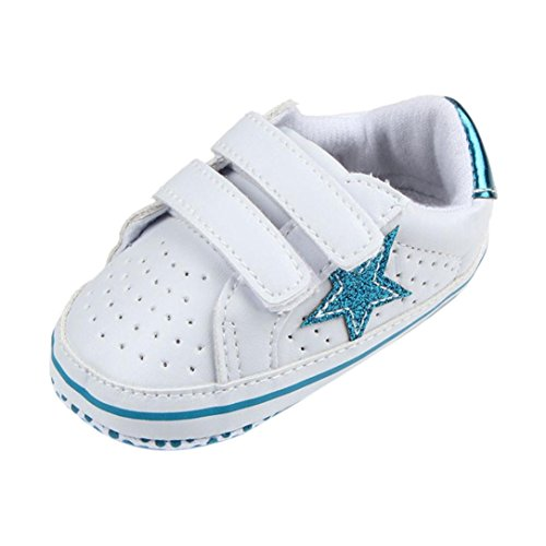 Babyschuhe Longra Baby Mädchen Jungen Soft fünfzackige Sterne Baby Kleinkind Schuhe atmungsaktiv Sneakers Casual Schuhe Lauflernschuhe Krippeschuhe (0 ~ 18 Monate) Bule