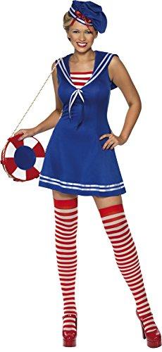 Generique - Tolles Matrosen-Kostüm für Damen L (Freien Nächsten Tag Versand Kostüm)