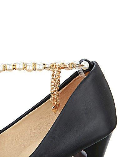 WSS 2016 Chaussures Femme-Bureau & Travail / Décontracté-Noir / Rose / Blanc-Gros Talon-Talons / A Plateau / Confort / Bout Arrondi-Talons- pink-us7.5 / eu38 / uk5.5 / cn38