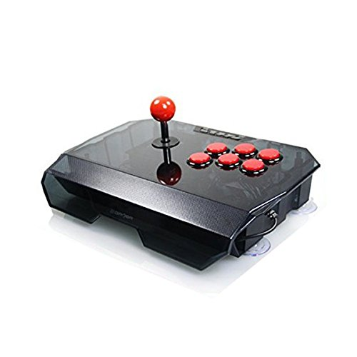 Joystick Pro Fighstick Arcade Emulators eSports Thunder Serie 2in1 For PS3/PC Clear Black with Red Buttoms