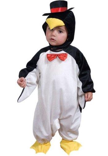 Fyasa 700901-tbb Pinguin Kostüm, schwarz/weiß, klein (Pinguin Mario Kostüm)