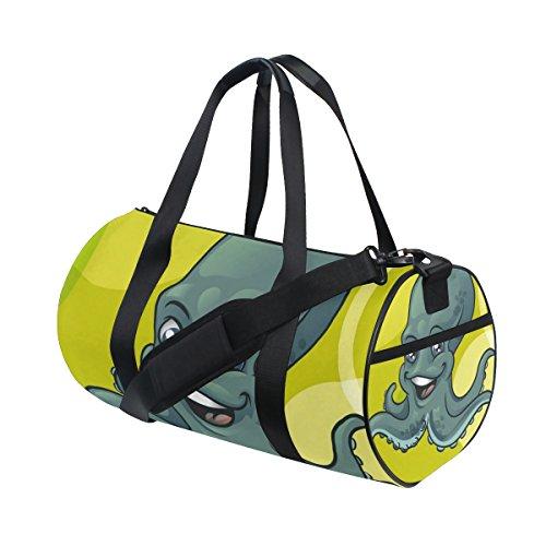 jstel Personalisierte Octopus Muster Sports Gym Tasche für Frauen und Herren Duffle Reisetasche