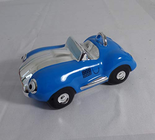 Wu Spardose Keramik Auto Farbe blau .20x12 cm