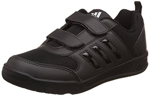 Adidas Unisex Black Formal Shoes - 13 Kids UK/India (31 EU)