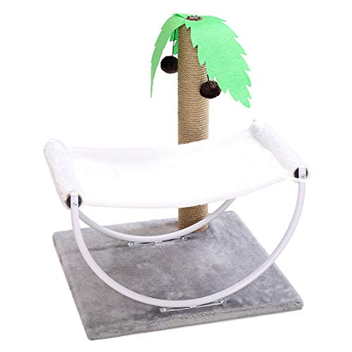 TzddWrqq Tropical Style Cat Climbing Frame Playable Sleepable Reclining Grindable Claw Tree Bed Lounge Chair Scratch Board Shelf Toy,TropicalStyle,48 * 48 * 57cm
