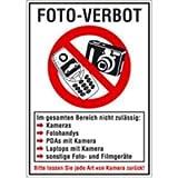 Schild Kombischild: FOTO-VERBOT 29,7 x 21cm PVC 2 mm