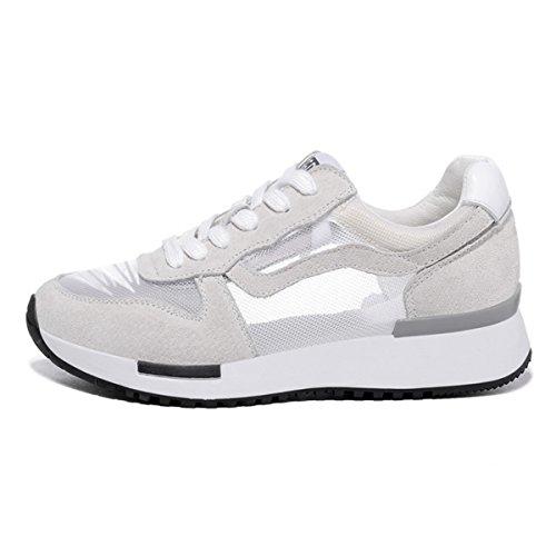 lusam Gefühl Damen Laufschuhe Workout Fitness Sneakers Athletic leicht Casual Sports Schuhe, damen, weiß, US7.5
