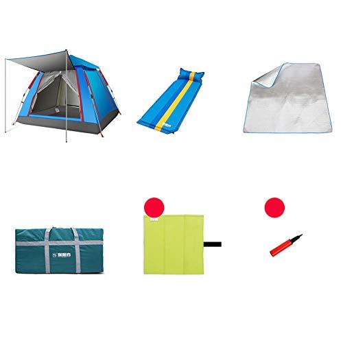 1-1 Park Partyzelt, Aufblasbares Kissen für 1 Person + Feuchtigkeitsauflage Picknick im Freien Bergsteigen Reiten Abenteuer Camping Pop Up Zelt,C