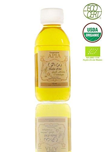 APIA - HUILE D'AIL Vierge 100% Pure, Bio et Naturelle - 125 ML