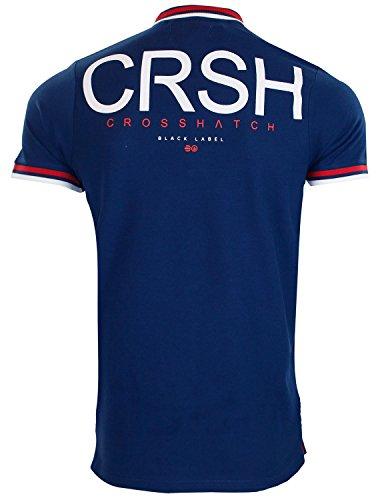 Neue Marken-Crosshatch PK-Polo-Shirt-Rippe-Tipping Pique-beiläufige Baumwollt-stücke Estate Blue