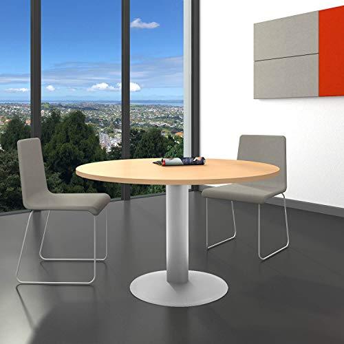 WeberBÜRO Optima runder Besprechungstisch Esstisch Küchentisch Tisch Buche Rund Ø 120 cm