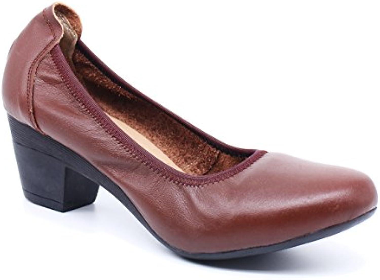 uBeauty Cuir Confortable Confortable Confortable Pumps Talon Bloc Femme Escarpins Professionnelles Sexy Hauts à Talon Bloc Chaussures...B07CPR75SVParent 7d85e6