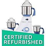(Certified REFURBISHED) Preethi Blue Leaf Diamond 750-Watt Mixer Grinder (Blue/White)