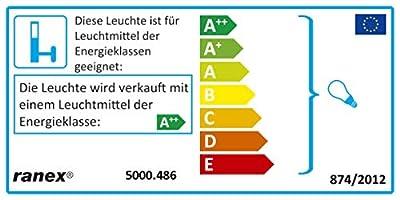 Ranex LED Wand Außenleuchte / Aluminium-Glas / grau und quadratisch