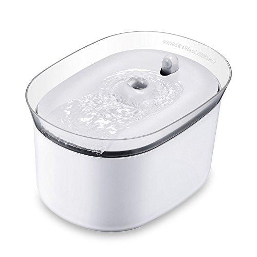 HoneyGuaridan automatischer Smart Haustier Wasserbrunnen mit Infraroterkennung, Haustier trinkbrunnen konzeptiert für Hunde und Katzen - Eine Packung mit 3 Karbonfilter