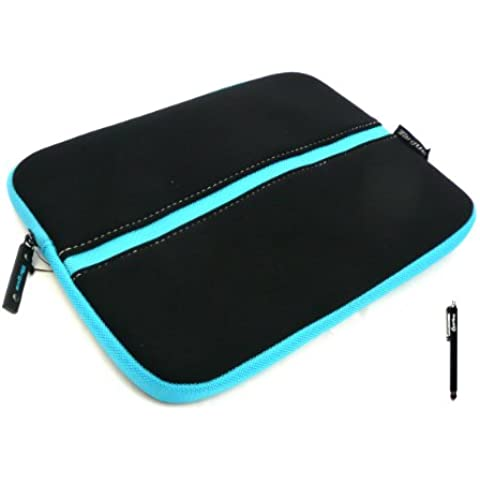 Emartbuy® Negro Stylus + Targus Negro Azul (10-11 Pulgadas Ereader / Tablet / Netbook ) Agua Neopreno Resistente Estuche Con Cierre Suave Case Cover Carcasa Funda Sleeve Adecuada Para HP ElitePad 1000 / HP ElitePad 1000 G2
