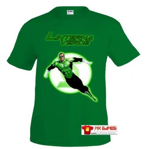 Camiseta Linterna verde Fly Verde Talla: 11-12 años