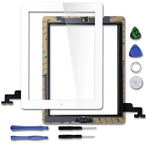 Para Apple iPad 2Digitalizador de pantalla Cristal Repuesto con botón de inicio y herramientas para