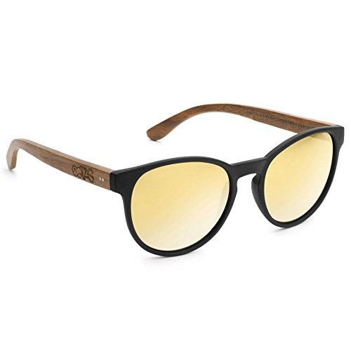 Take A Shot Sonnenbrille The Knave of Hearts - Walnuss schwarz (walnut/dark gold mirrored/black matt)
