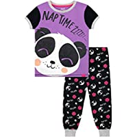 Harry Bear Girls Panda Pyjamas Purple Age 11 to 12 Years