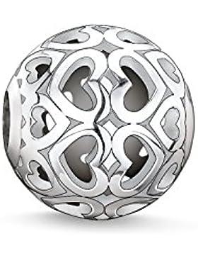 Thomas Sabo Damen-Bead Herzen Karma Beads 925 Sterling Silber K0006-001-12