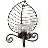 JEWEL FUEL Iron And Glass Wall Mount Tealight Candle Holder Home Decorative