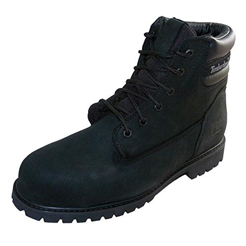 Timberland Mens Traditional Wide Lace up Leather Work Safety Boot noir