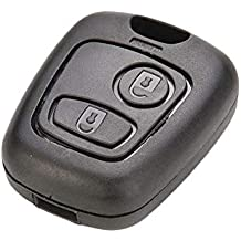 RUNGAO - Carcasa para llave de coche compatible con Peugeot 107 207 307 407 106 206