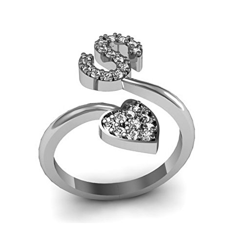 Jewels Cart Silver Cz Silver Plated Ring For Women