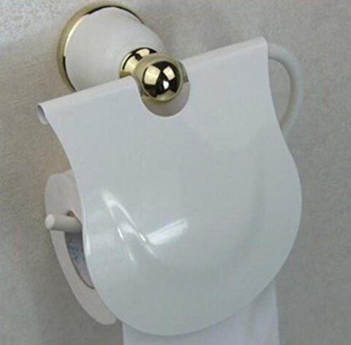 Stil Braten Halter (USDFJN Toilettenpapierhalter Wandhalter für Badzimmer WC PapierhalterIm europäischen Stil braten Zinklegierung weiß Wasserdicht)