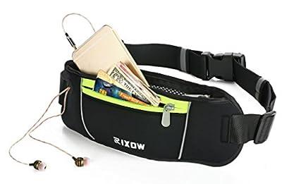 Sport Hüfttasche,Rixow Sport Bauchtasche Gürteltasche Nachtsichtbarkeit für iPhone 7 Plus / iPod zum Reisen ,Laufen, Wandern , Radfahren, Sport, Yoga